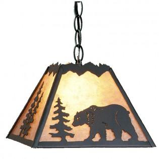 Rocky Mountain Bear Pendant Light-Small