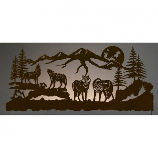 Wolf Pack Back Lit Wall Art