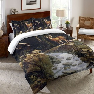 Above the Falls Deer Duvet Covers