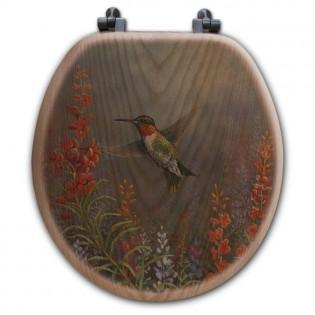Hummingbird Toilet Seat-Round