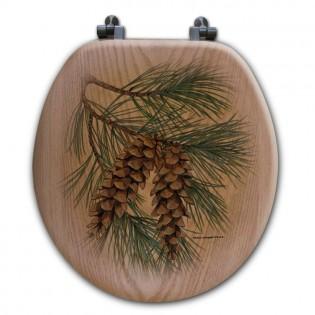 Pine Cone Toilet Seat-Round