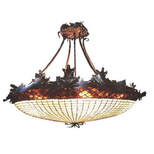 Acorn  Oak Leaf Chandelier - 100 in. W / 16 Arm