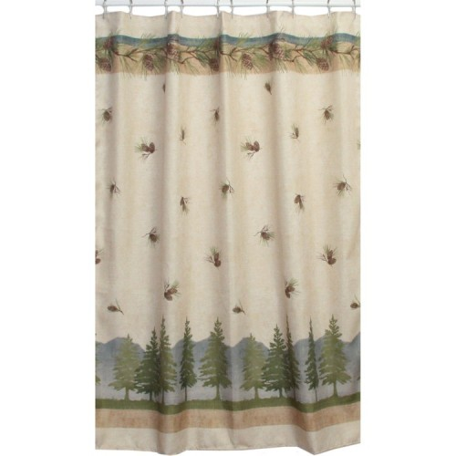 Gray Ruffle Shower Curtain Twig Shower Curtain