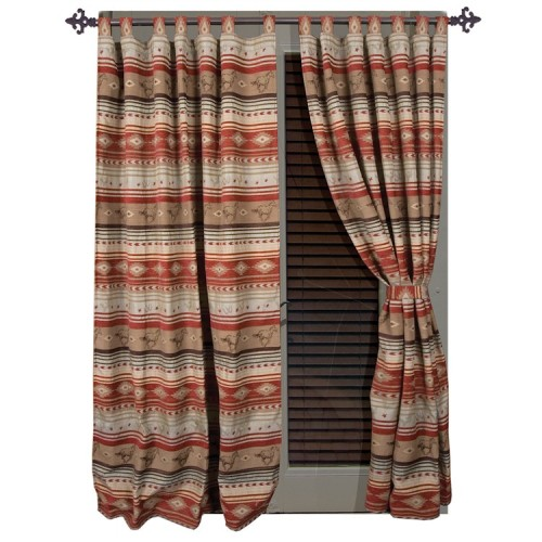 Flying Horse Drapes with Tiebacks from The Cabin Shop!