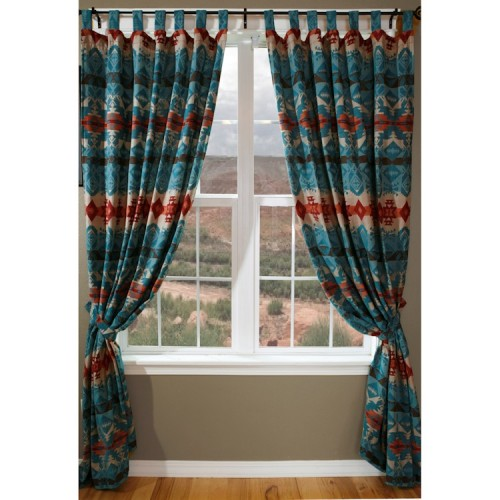 Turquoise Chamarro Drapes from The Cabin Shop!