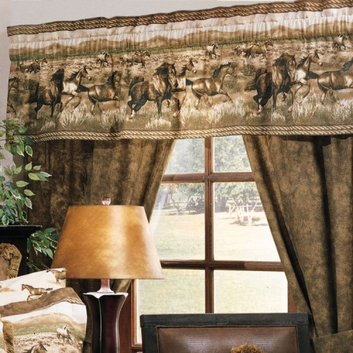 Wild Horses Drapes from The Cabin Shop!