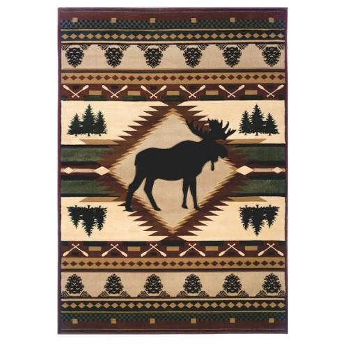 Moose Wilderness Rug