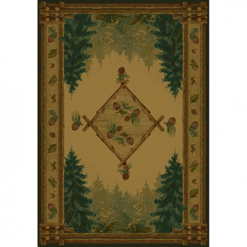 Rustic Forest Trail Rug