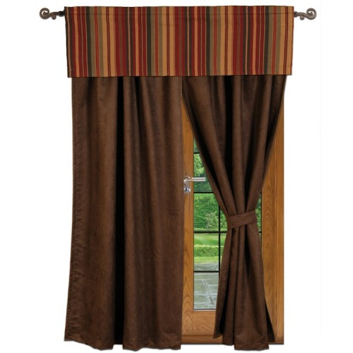 Chocolate Drapes from The Cabin Shop!