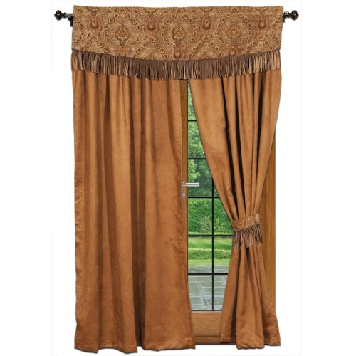 Chestnut Suede Drapes from The Cabin Shop!