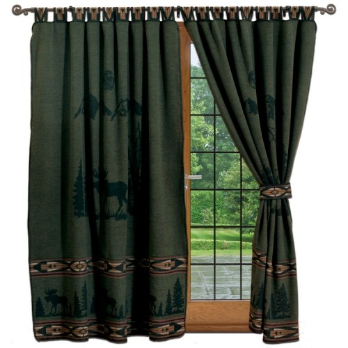 Pine Moose Tab Top Draperies