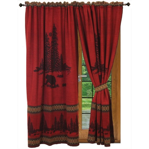 Wooded River Bear Drapes