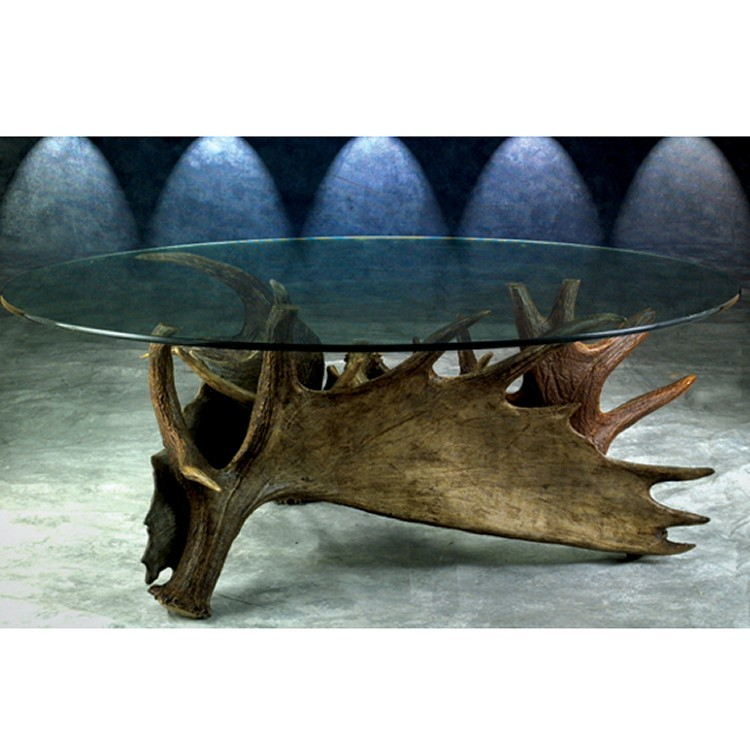Moose Antler Tripod Coffee Table