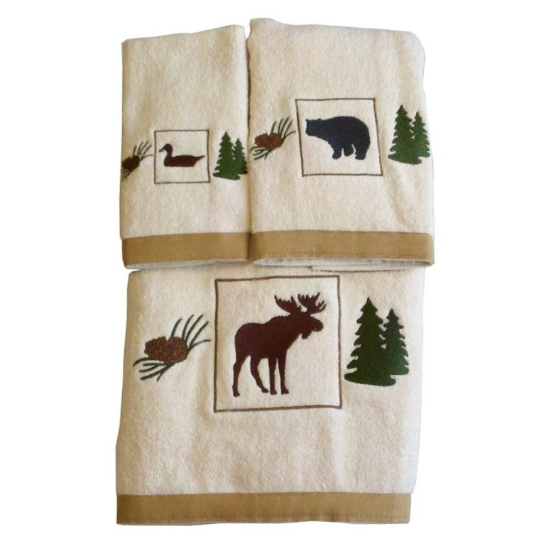 Reproduction Vintage Bath Towels: Vintage Outdoors Bath Towels