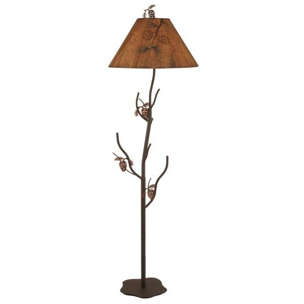 Rustic Cabin Floor Lamps : Pine tree floor lamp