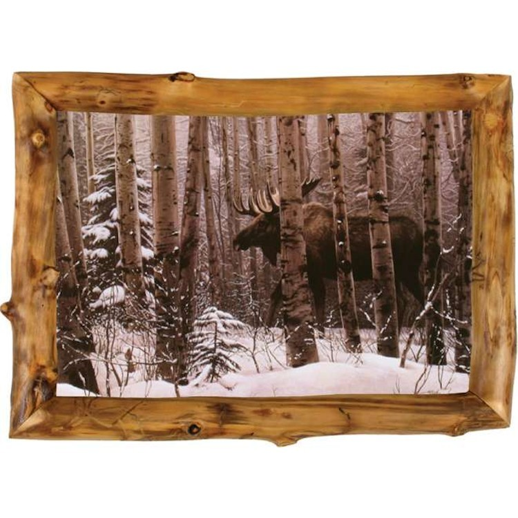 A Walk in the Woods Moose Framed Print