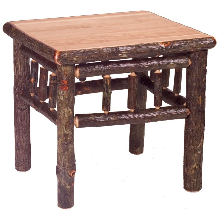 Square Hickory Coffee Table
