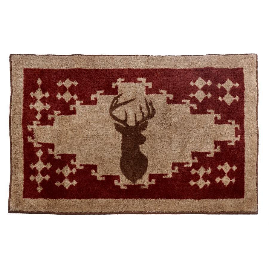 Deer bathroom accessories - Deer Kitchen And Bath Rug
