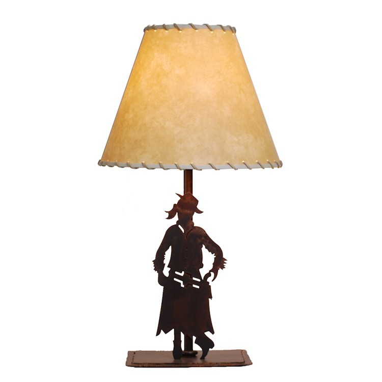 Western cowgirl table lamp for Table western
