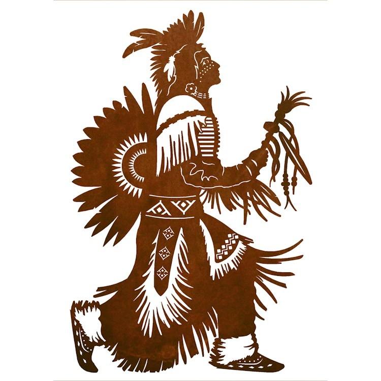 Native American Rain Dancer Metal Wall Art