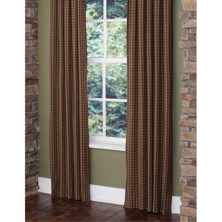 Country Cabin Check Drapes
