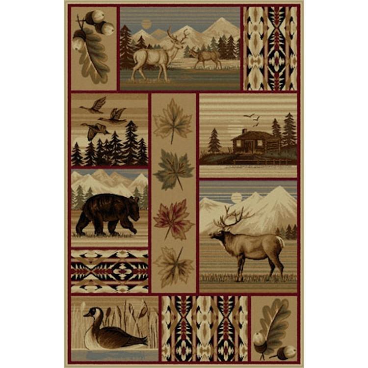 Game Area Rugs: Yellowstone Wildlife Area Rug