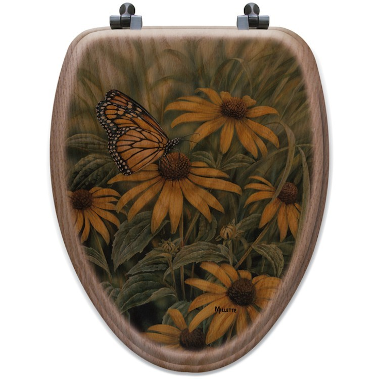 Monarch butterfly toilet seat elongated - Elongated toilet seat covers in some stunning patterns ...
