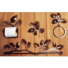 Silhouette Pine Cone Towel Bar and Bathroom Accessories