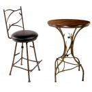 Pine Bar Table and Stools