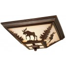 Yellowstone Moose Flush Mount Ceiling Light