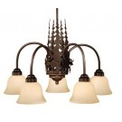 Yellowstone Moose 5 Arm Chandelier
