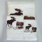 Rustic Moose Towel Sets