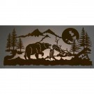 Grizzly Moon Back Lit Wall Art