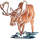 Bull of Rights Moose Metal Wall Art