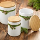 3 Piece Pine Cone Canister Set