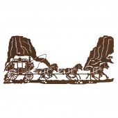 Stage Coach Metal Wall Art
