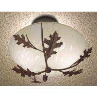 Oak Leaves and Acorns Ceiling Light