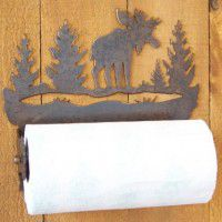 Silhouette Moose Paper Towel Holder