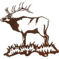 Bull Elk Metal Art