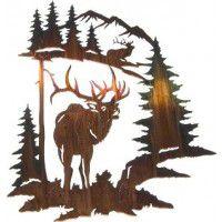Elk Challenge Metal Wall Art