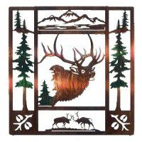 Fall Bugler Elk Metal Wall Art