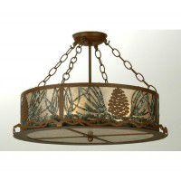Strunk Pine Cone Semi Ceiling Light