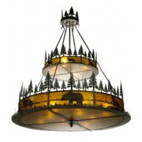 2 Tier Wildlife Rustic Chandelier