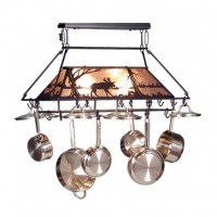 Lighted Moose Pot Rack