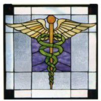 Physician Stained Glass Window