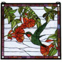 Humming Bird Stained Glass Window
