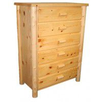 Six Drawer Log Chest of Drawers