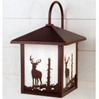 Yellowstone Deer Outdoor Lantern