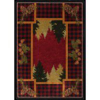 Plaid Woodsman Area Rug