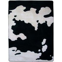 Black and White Cowhide Area Rugs